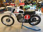 '73 CZ 400 Coffin TRICK FORKS w/ Koni POPPI'S Vintage MX MotoCross RACER NICE!