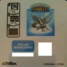 Polar Whirlwind Skylanders Giants Sticker/Code Only!