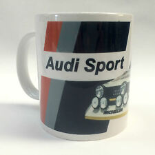Classic Audi Sport Quattro S1 Group B Rally Car Mug Birthday Gift Personalised