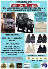 Nissan Patrol 4WD 97-18 Genuine Sheepskin Car Seat Covers Pair 22MM Airbag Safe
