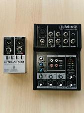 Mischpult Mackie Mix5 + Ultra-Di 20 Behringer