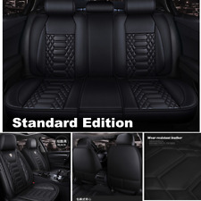 Deluxe PU Leather Full 6D Surround Car Seat Cover Cushion Set For 5 Seat Car