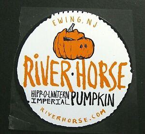 River Horse HIPP-O-LANTERN IMPERIAL PUMPKIN brewery sticker -not a beer label NJ