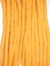Marigold Yelllow Dreadlocks - 16 Handmade felted merino wool double ended dreads