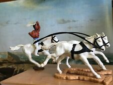 Horse Team and Indian: Timpo Swoppet Toys Vintage Plastic Figures