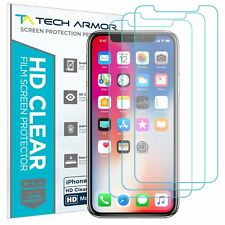 Tech Armor HD Clear Film Screen Protector for Apple iPhone X/ iPhone Xs [3-Pack]