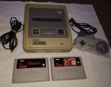 SNES SUPER NINTENDO GAME CONSOLE SET - UK PAL VERSION : FULLY WORKING & TESTED