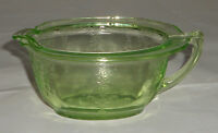 Anchor Hocking Green Princess Depression Glass Creamer (With a Chip) 1931-35
