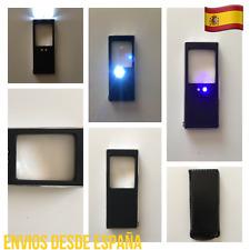 Lupa Mini De Bolsillo Con 2 LED Y LUZ UV Detector Billetes Funda Boli incorporad