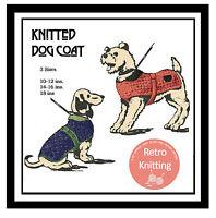 Dog Coat Knitting Pattern  - Miniature - Dachshund - Terrier