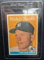 1958 TOPPS #150 MICKEY MANTLE NEW YORK YANKEES HOF AUTHENTIC