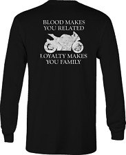 Motorcycle Long Sleeve Tshirt Loyalty shirt for Men or Women