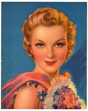 """Winsome 1930s Glamour Girl art deco print 8"""" x 10"""" Ӝ"""