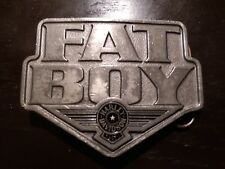 Rare & well loved Harley-Davidson Fat Boy Belt Buckle, Official Licensed Product