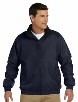 Harriton Men's Full Front Zip Mock Collar Fleece Water Resistant Jacket. M740