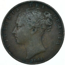 More details for 1845 one farthing of queen victoria collectible coin very nice   #wt27939