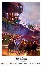 Saratoga Race Track - Rare Vintage Poster (1991) by Illustrator Bernie Fuchs