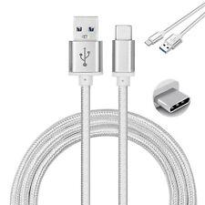 Câble de charge rapide USB type C blanc, nylon, pour mobile Xiaomi MI Mix 2S, 1m