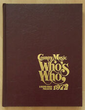 Country Music Who's Who. Record World Publications 1972
