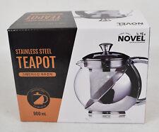 Novel Stainless Steel Teapot with Infuser 900ml Korea Tea Pot