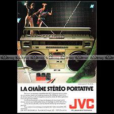 JVC RC M70 L RADIO-CASSETTE BOOMBOX GHETTO BLASTER VINTAGE 1980 Pub / Ad #A1446
