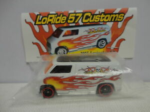 Hot Wheels Custom '77 DODGE VAN White RAOK 2015 LEXINGTON Nationals