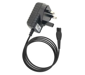 UK Plug Adapter Charger Power Supply Cord For Philips DIY Hair Clipper QC5570/13