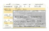 1997 Milwaukee Brewers vs Chicago White Sox Baseball Game Ticket Stub