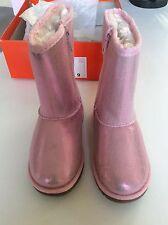 Nib Jumping Beans boots pink girl shimmer winter zipper sz 9 Toddler
