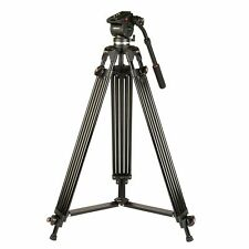 Kenro KENVT103 3-Sections Aluminium Alloy Twin Tube Video Tripod + Fluid Head UK
