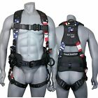 AFP Fall Protection Full-Body Safety Harness Premium American Flag Bad Boy New