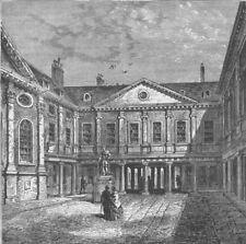 SOUTHWARK. St.Thomas's Hospital, 1840. London c1880 old antique print picture