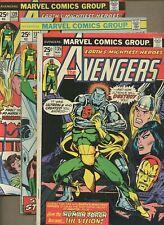 Avengers 135,138,139 * 3 Book Lot * Vision Origin! Ultron! Human Torch! Marvel