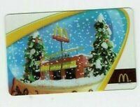 McDonald's Gift Card - Christmas / Snow Globe - 2005 - No Value - I Combine Ship