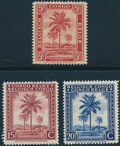 Stamp Belgium Congo Africa Selection WWII 1942 Palm Oil Tree MNH
