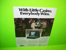 Digital Controls LITTLE CASINO Magazine Ad For Video Arcade Game Not a Flyer