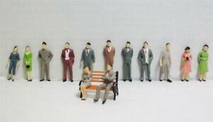 """1:48 """"O"""" Gauge Hand Painted Scale Model Figures 26 Pieces in 13 Poses"""