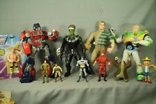 lot vintage action figures transformers robots toys Buzz Lightyear Marvel