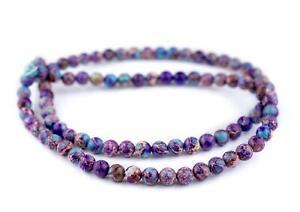 Galaxy Sea Sediment Jasper Beads 8mm Multicolor Round Gemstone 15 Inch Strand