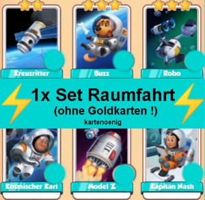 1 x Set Raumfahrt - ohne Goldkarten ! - Coin Master Karten - Bester Service !!!
