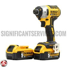 "New DeWALT DCF887B 20V 3 Speed XR Brushless 1/4"" Impact Driver 5.0 Ah Batteries"