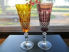 Nachtmann Cut to Clear Crystal Champagne Flute Pair (2) ~Mint~