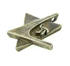 Sterling Silver Vintage jewish Symbol Chi Star of David Pendant