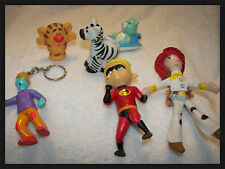 Mc donalds happy toys key chain , carebear,Incredibles zoo animals set of 6