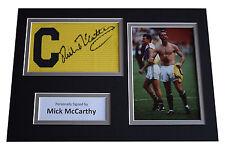 Mick McCarthy Signed Captains Armband A4 Photo display Ireland Football & COA
