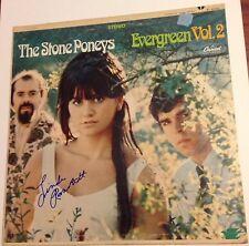 LINDA RONSTADT SIGNED STONE PONEYS EVERGREEN VOL 2 ALBUM LP VINYL PSA/DNA
