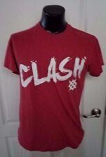 Clash Red Vintage Print Logo T Shirt Medium Retro Rare