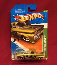 Hot Wheels 2011 Treasure Hunt Custom`62 Chevy 4 OF 15 GOLD WITH GREEN SURF BOARD