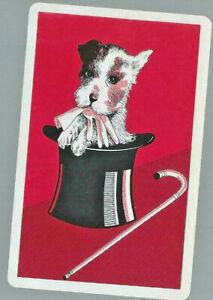Geniune Swap Vintage Playing Card   DOG