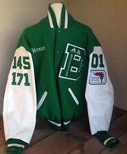 Hunter Green White Lettermans Jacket Nichole Wrestling XL Chicks Bonita BHS 2001